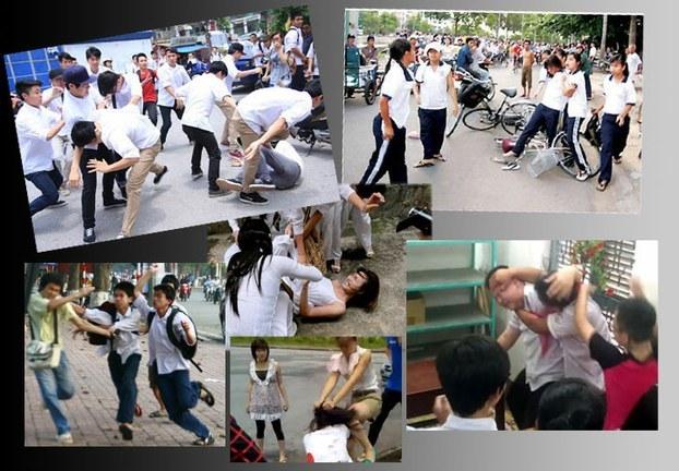 học sinh đánh nhau,bạo lực học đường,bạo lực