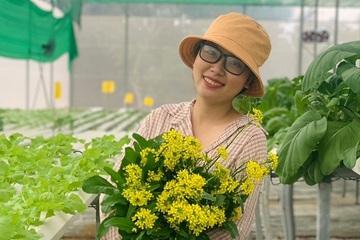 Sau khi trồng 5m2 rau sạch cho con ăn dặm, bà mẹ trẻ làm luôn vườn rau thủy canh 1.000m2
