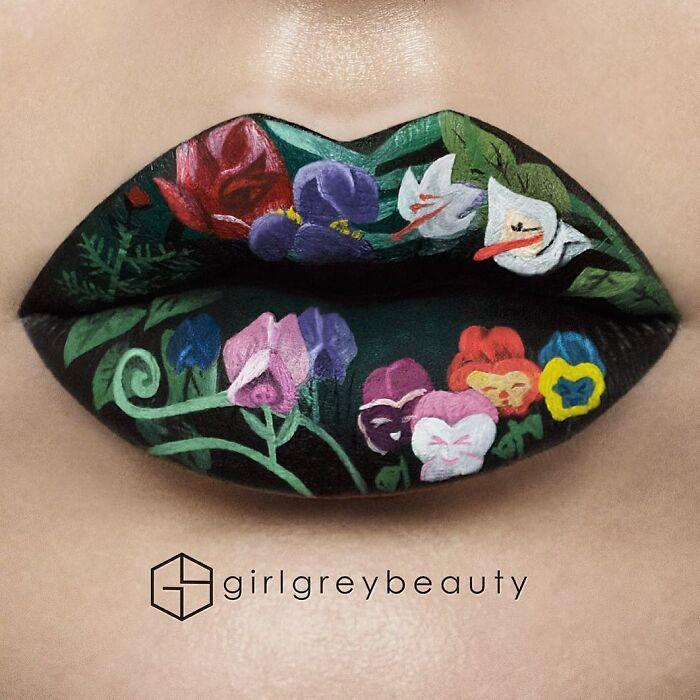 Hô biến đôi môi thành bức tranh nghệ thuật ấn tượng