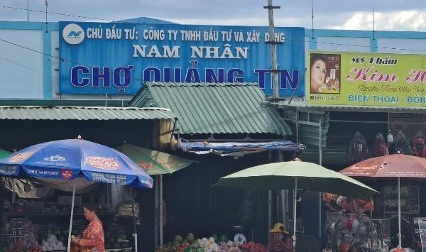 """Vụ mua đất """"trượt tọa độ"""" tại chợ Quảng Tín: Công an đang điều tra"""