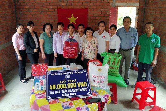 Mái ấm khuyến học đồng hành cùng học sinh nghèo Tiền Giang