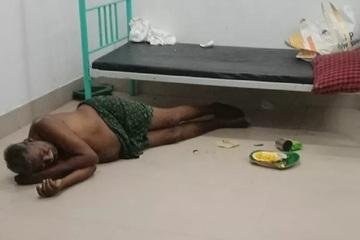 Bệnh nhân nằm cả trong nhà vệ sinh ở bệnh viện Ấn Độ