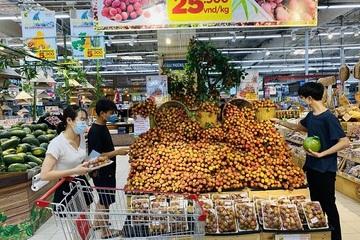 Vải thiều được ưu tiên vị trí đẹp trong các siêu thị