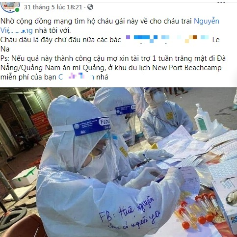 covid-19,facebook Nguyễn Huệ