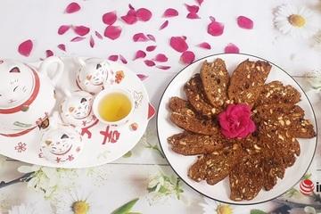 Cách làm bánh quy Biscotti cà phê dừa thơm ngon, giòn rụm