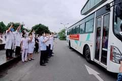 52 cán bộ Y tế Nghệ An lên đường sang giúp Hà Tĩnh chống dịch