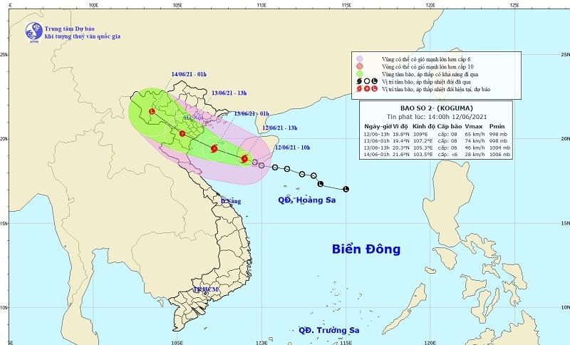 Áp thấp nhiệt đới,Bão số 2,Dự báo thời tiết