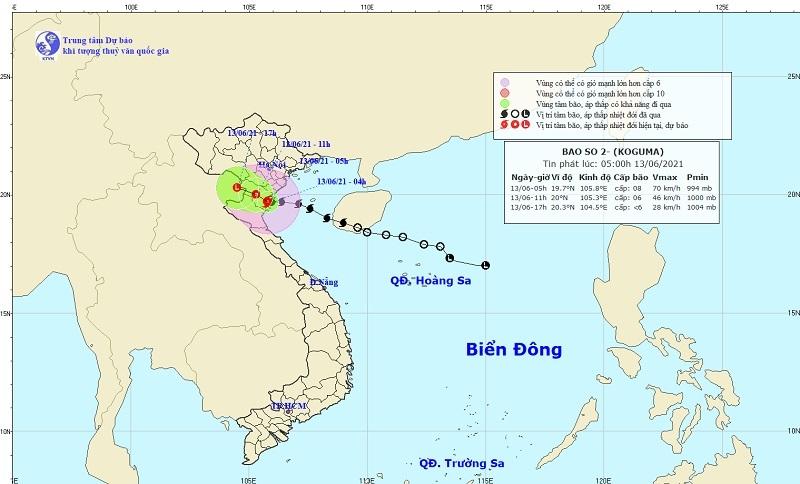 Bão số 2 gió giật cấp 10, ảnh hưởng từ Thái Bình đến Bắc Nghệ An
