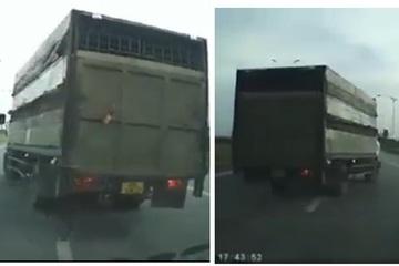 Clip xe tải chèn ép, đánh võng chặn đầu, tài xế hành xử giang hồ trên cầu ở Hà Nội