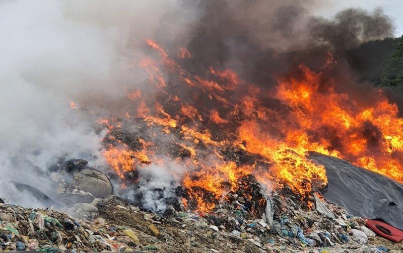 cháy bãi rác,Đà Nẵng,bãi rác lộ thiên