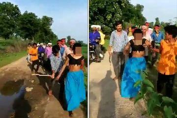 Trở về nhà chồng, người phụ nữ Ấn Độ bị xé quần áo, bắt đi diễu phố