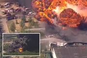 Nổ nhà máy hóa chất ở Mỹ, ngồi trên máy bay vẫn nhìn thấy cột khói đen