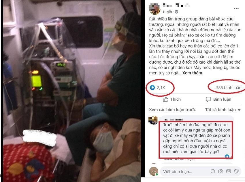 Clip xe tải không nhường đường xe cấp cứu khiến dân mạng tranh cãi gay gắt