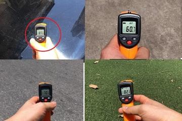 Nắng nóng kỷ lục, nhiệt độ Hà Nội ngoài trời hôm nay có nơi lên tới 82 độ C