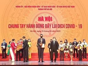 Tập đoàn Tân Hoàng Minh ủng hộ 20 tỷ đồng, quyết tâm cùng Hà Nội đẩy lùi dịch Covid-19