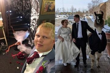 Những hình ảnh trong đám cưới khiến người xem 'nhớ tới già'