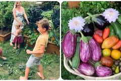 Bà mẹ 4 con rèn tính cách cho con từ việc làm vườn