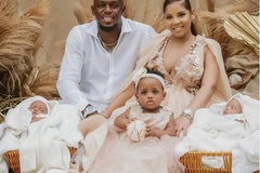 """""""Tia chớp' Usain Bolt chào đón cặp song sinh, đặt tên cho con là 'sấm sét'"""