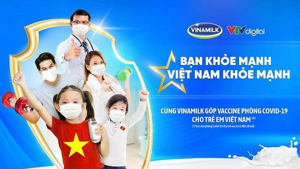 """Vinamilk khởi động chiến dịch """"Bạn khỏe mạnh, Việt Nam khỏe mạnh"""" với hoạt động góp vắc xin phòng Covid-19 cho trẻ em"""
