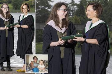 Sự trùng hợp tuyệt vời, hai mẹ con cách nhau 22 tuổi tốt nghiệp ĐH cùng ngày