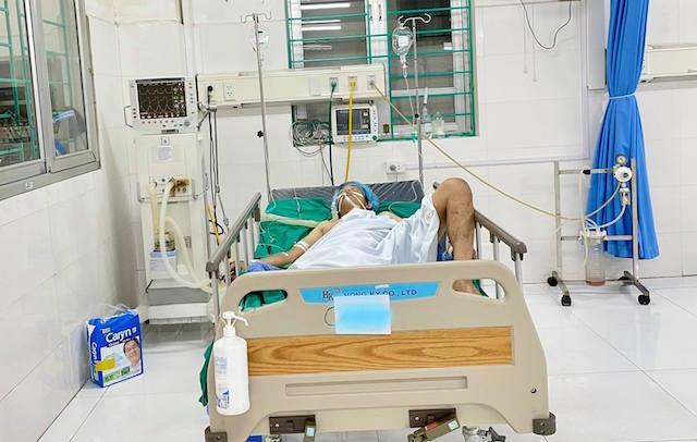 Tai nạn lao động,bác sĩ,bệnh nhân,cụt chân