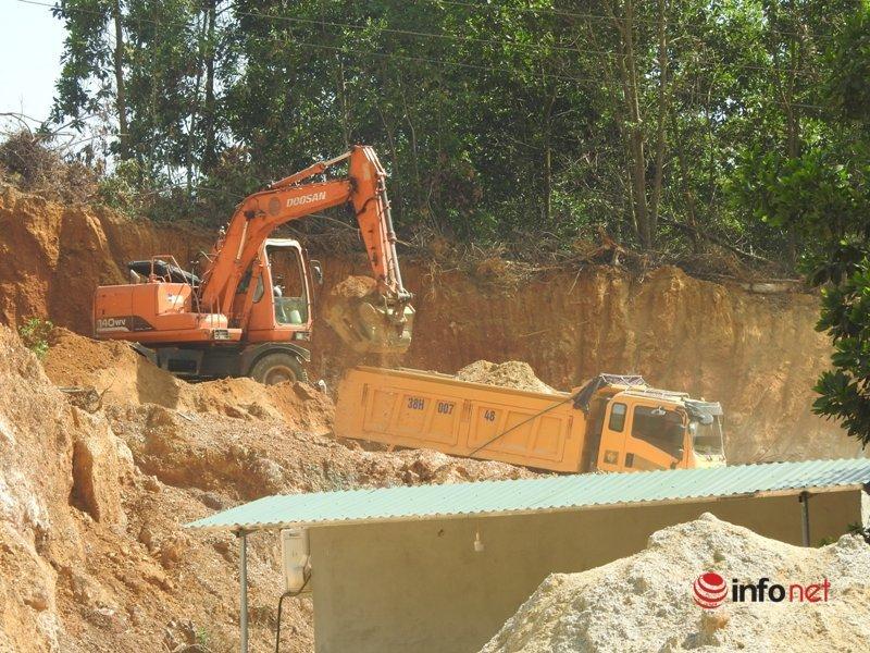Hà Tĩnh,khai thác đất,làm dự án,trục lợi dự án,khai thác đất trái phép,xẻ thịt đất đồi