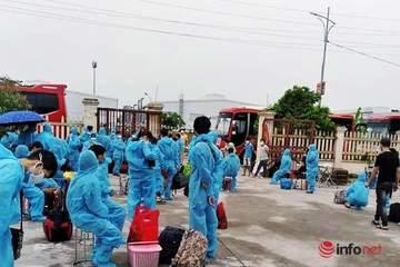 Gần 1.000 người từ Bắc Giang trở về Nghệ An được khám sàng lọc, cách ly