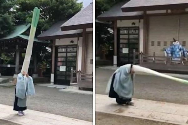 Ngôi đền ở Nhật Bản tổ chức nghi lễ kỳ lạ ai đi qua cũng tò mò vào xem