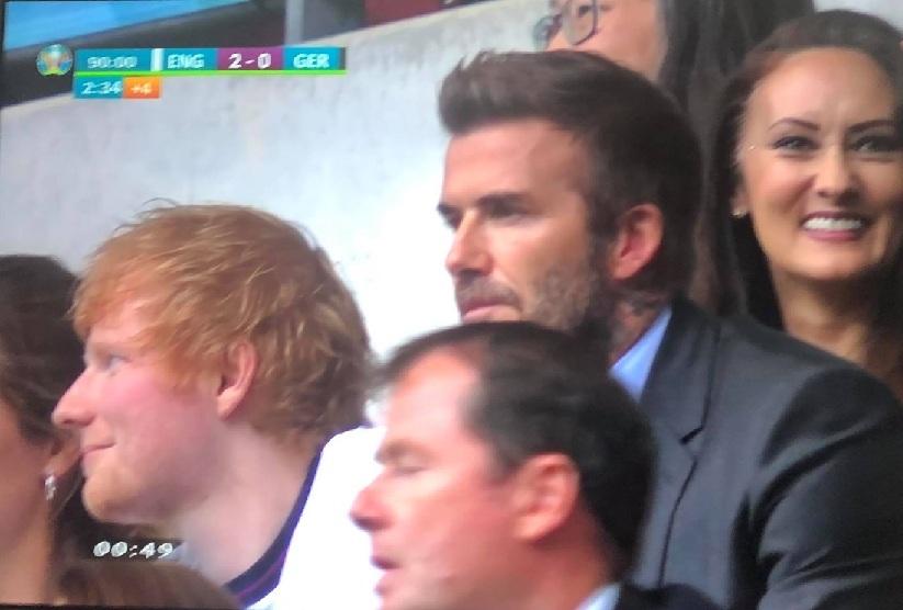 David Beckham,Ed Sheeran,EURO 2020,tứ kết EURO 2020