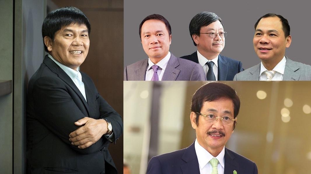Người giàu nhất,Tỷ phú chứng khoán Việt Nam,Top 5 người giàu
