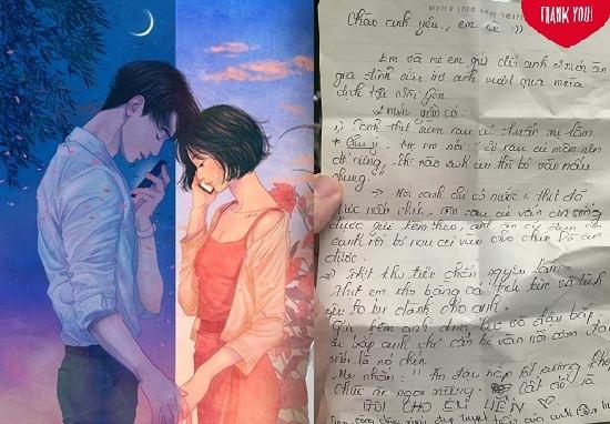 """""""Cưng xỉu"""" dòng thư tay của cô gái yêu xa gửi bạn trai, dân mạng ghen tị với chàng trai """"số hưởng"""""""
