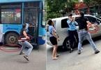Bị thanh niên cầm dao dọa, phụ xe buýt Hà Nội nói 'không biết có chuyện gì'