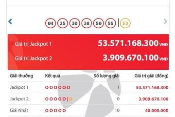 Trúng hơn 53 tỷ đồng, một người ở Hà Nội vừa trở thành tỷ phú Vietlott