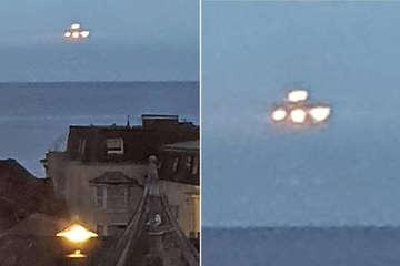 UFO bay lơ lửng trên bờ biển Anh, người dân chụp được hình ảnh rõ nét