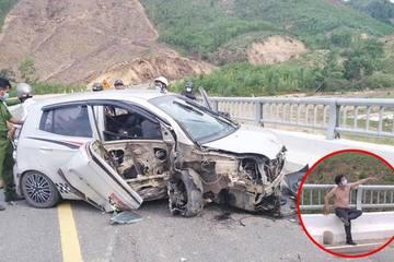 Kẻ cướp ô tô bị truy đuổi, tự gây tai nạn trên đường tháo chạy