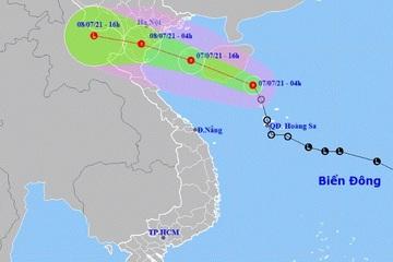 Áp thấp nhiệt đới gió giật cấp 9, ảnh hưởng từ Quảng Ninh đến Hà Tĩnh