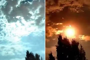 Quả cầu lửa xuất hiện trên bầu trời biến một bang nước Mỹ đêm thành ngày
