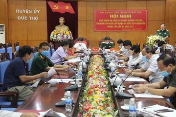 Huyện Đức Thọ (Hà Tĩnh) chuẩn bị diễn tập phòng chống lụt bão, tìm kiếm cứu nạn