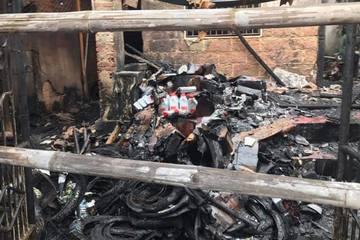 Cháy lớn tại cửa hàng bán phụ tùng xe máy, thiệt hại hàng tỷ đồng