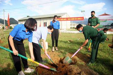 Thanh niên Lai Châu trồng 1.600 cây xanh hưởng ứng Ngày Môi trường thế giới