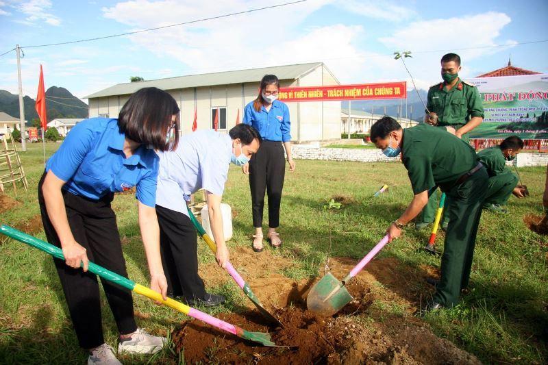 trồng cây xanh,bảo vệ rừng,bảo vệ môi trường,thanh niên,Lai Châu,Bộ đội biên phòng