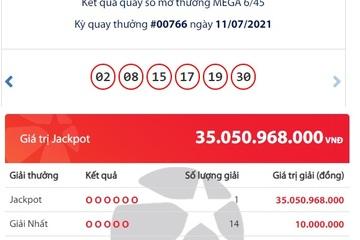 Trúng Jackpot hơn 35 tỷ đồng, một người vừa trở thành tỷ phú Vietlott