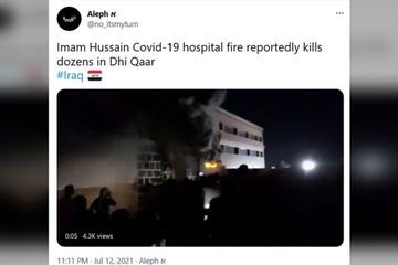 Nổ bình oxy ở bệnh viện điều trị Covid-19 khiến hơn 110 người thương vong