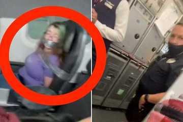 Cố tình gây rối trên máy bay, hành khách bị dán băng dính quanh miệng