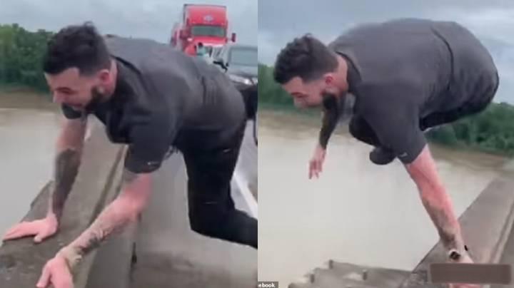 Chờ tắc đường quá lâu, người đàn ông nhảy xuống hồ cá sấu và cái kết