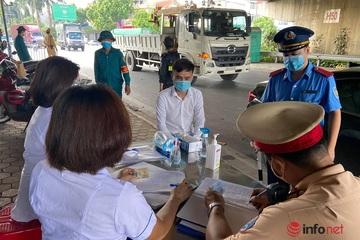 Cận cảnh kiểm soát dịch tại cửa ngõ  Hà Nội ngày đầu tiên