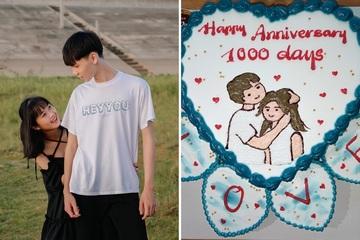 Khoe bánh trái tim kỷ niệm 1.000 ngày yêu, gái xinh chia sẻ chuyện tình 'chủ động tấn công' khiến dân mạng ngưỡng mộ