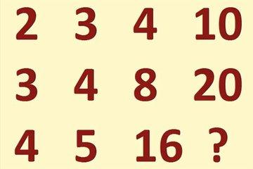 """Những bài toán điền số theo quy luật vừa thú vị vừa """"hack não"""""""