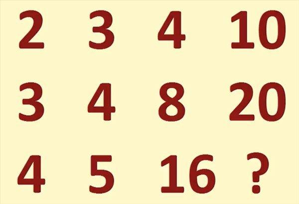 bài toán điền số theo quy luật 2