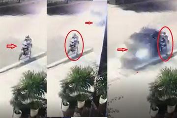 Ô tô mất lái lao lên vỉa hè khiến 1 thanh niên suýt chết, hành động sau đó của tài xế càng đáng phẫn nộ